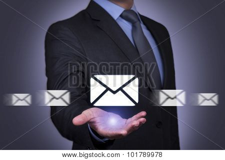 Communication Concept on Send Mail