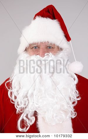 Isolated Portrait Of Santa Claus