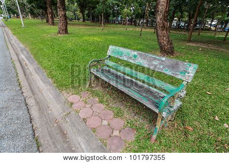 Old Chair In The Park