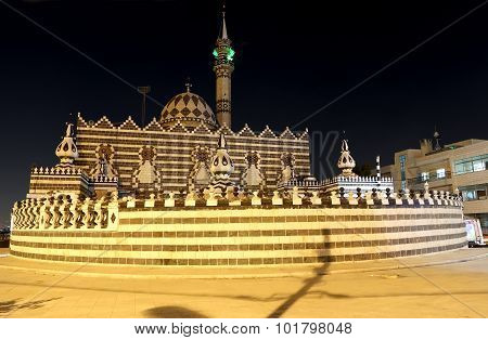 Abu Darweesh Mosque Amman (at night) Jordan