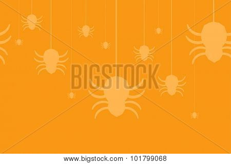 Halloween vector background seamless pattern. Spider web, Halloween symbols. Halloween silhouette for Halloween party design. Halloween seamless background, spider vector