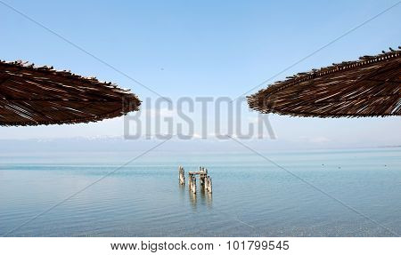 picture of a Lake Ohrid Macedonia. Unesco heritage site