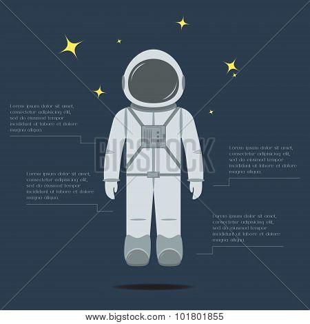 Flat astronaut.