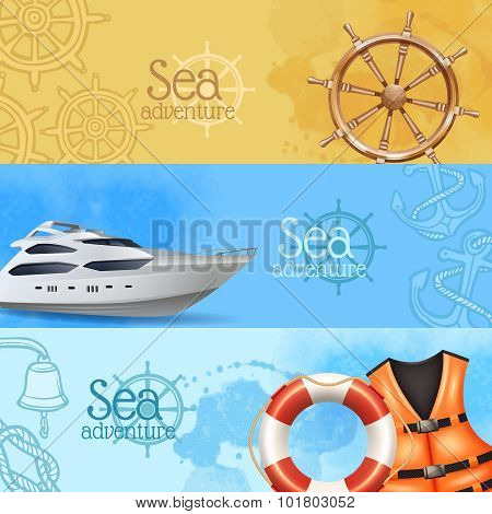 Sea Adventure Banners Set