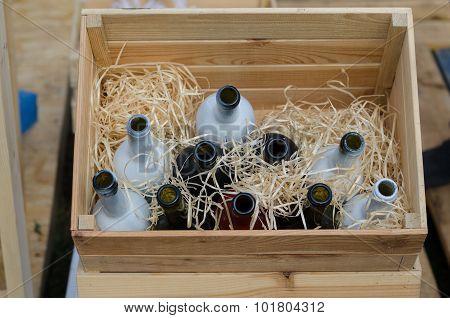 empty wine botles