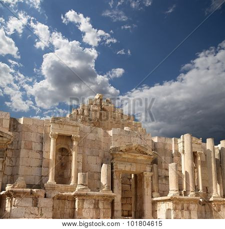 Roman ruins in the Jordanian city of Jerash