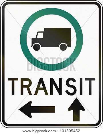Transit Lorry Lane With Direction In Canada