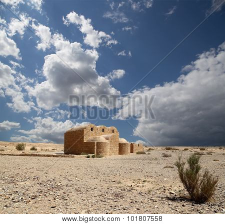 Qasr Kharana (kharanah Or Harrana), The Desert Castle In Eastern Jordan (100 Km Of Amman)