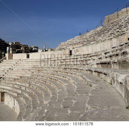 Roman Theatre in Amman Jordan