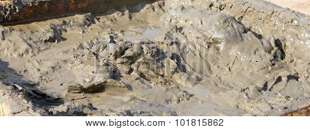The Medical Mud On The Shore Of The Dead Sea, Jordan