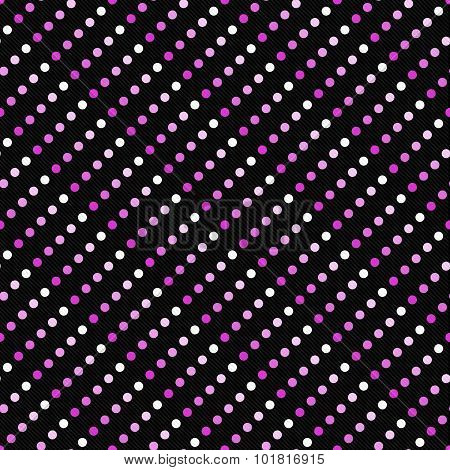 Pink Multicolored And Black Polka Dot  Abstract Design Tile Pattern Repeat Background