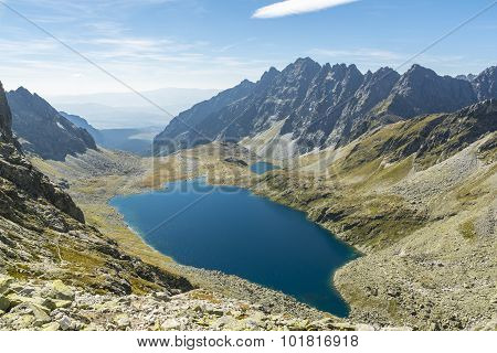 Valley With Its Ponds In The Tatra Mountains