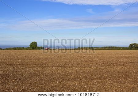Cultivated Field And Sprayer