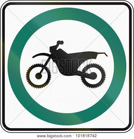 Dirt Bike Lane In Canada