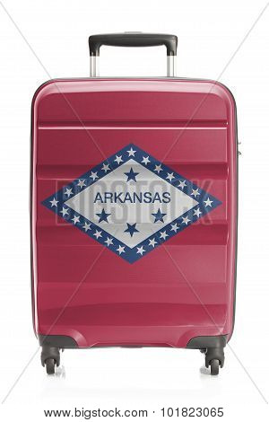 Suitcase With Us State Flag Series - Arkansas