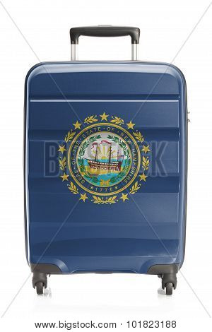 Suitcase With Us State Flag Series - New Hampshire