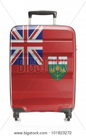 Suitcase With Canadian Territory And Province Flag Series - Ontario