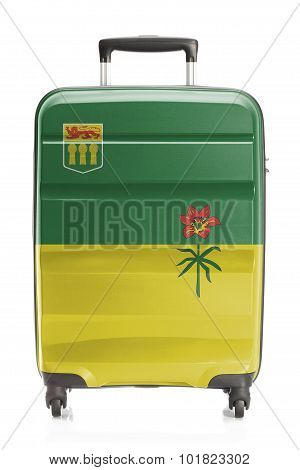 Suitcase With Canadian Territory And Province Flag Series - Saskatchewan