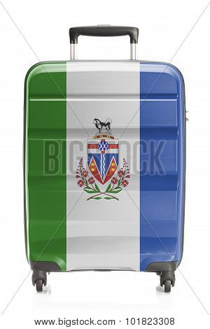 Suitcase With Canadian Territory And Province Flag Series - Yukon