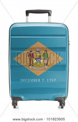 Suitcase With Us State Flag Series - Delaware