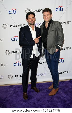 LOS ANGELES - SEP 12:  Benjamin Hollingsworth, Harry M Ford at the PaleyFest 2015 Fall TV Preview - CBS Code Black at the Paley Center For Media on September 12, 2015 in Beverly Hills, CA