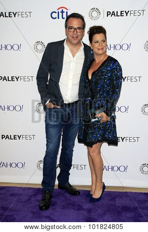 LOS ANGELES - SEP 12:  Michael Seitzman, Marcia Gay Harden at the PaleyFest 2015 Fall TV Preview - CBS Code Black at the Paley Center For Media on September 12, 2015 in Beverly Hills, CA