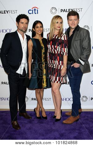 LOS ANGELES - SEP 12:  Ben Hollingsworth, Melanie Chandra,  Bonnie Somerville, Henry M Ford at the Fall Preview - Code Black at the Paley Center For Media on September 12, 2015 in Beverly Hills, CA