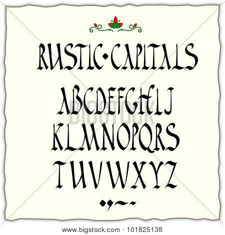 rustic capitals alphabet
