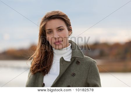 New England Woman During Autumn