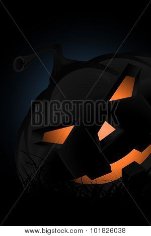 Halloween Party Background with Pampkin Lantern in Grass