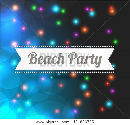 invitation to Beach party