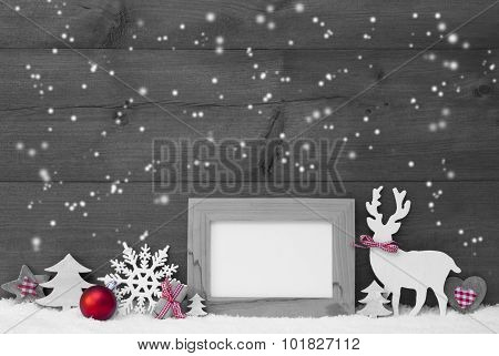 Gray Christmas Decoration Snowflakes Frame
