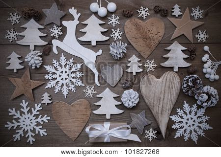 Many Christmas Decoration,Heart,Snowflakes,Star,Present,Reindeer