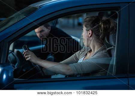 Getting In Woman's Car