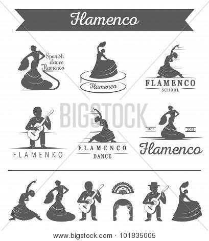 Set Of Vector Badges Flamenco