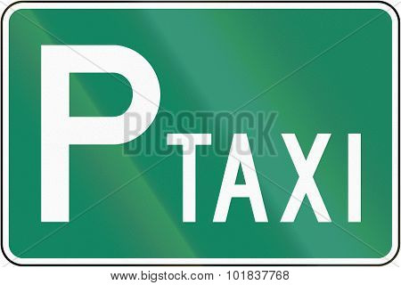 Parking Place For Taxis In Canada