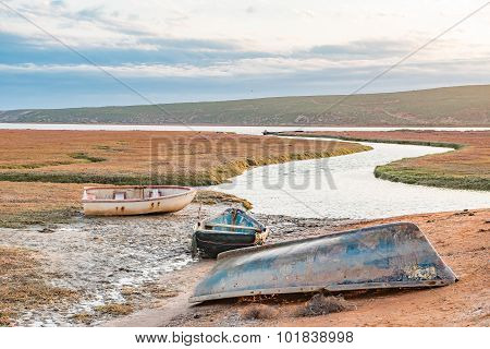 Fishing Boats At Sunset In The Olifants River Estuary