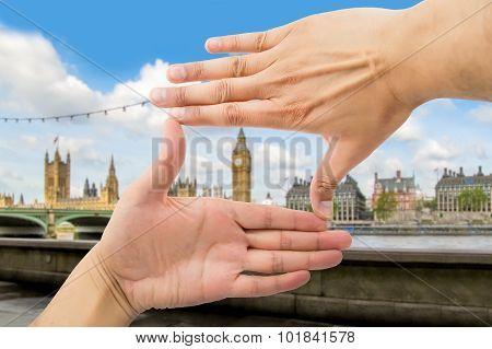 Means Frame Over Big Ben