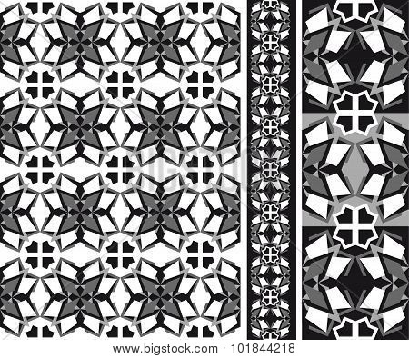 simple Geometrical Abstract Patten Black And White