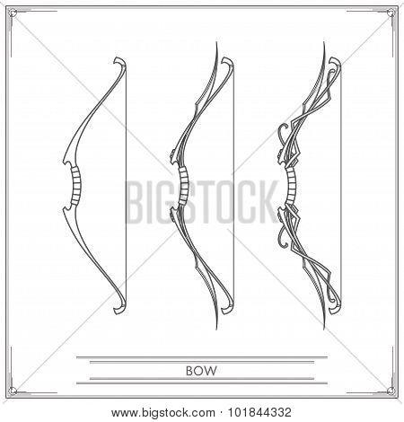 Fantasy Bow Lineart