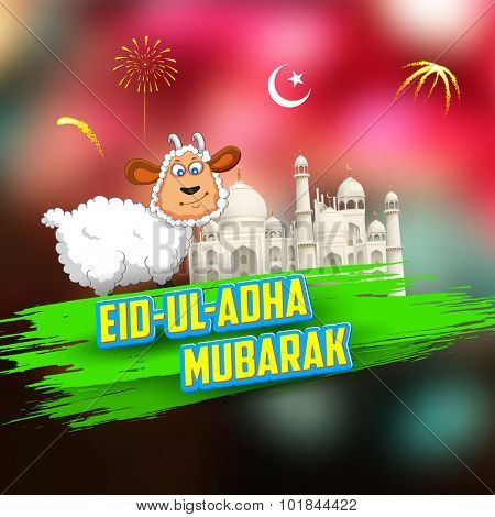 illustration of sheep wishing Eid ul Adha (Happy Bakra Id)