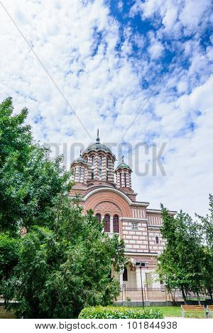 Bucharest, Romania - August 30: The St. Elefterie Church On August 30, 2015 In Bucharest, Romania. I
