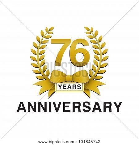 76th anniversary golden wreath logo