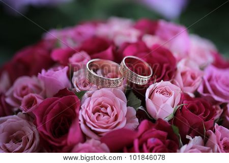 Rose Bouquet And Rings