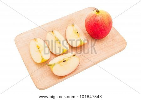 Close Up Jazz Apple  Isolated Onwhite Background
