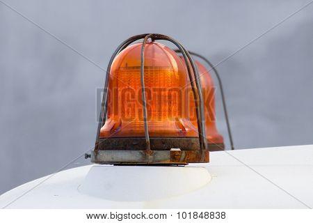 Orange Siren Signal Lamp For Warning