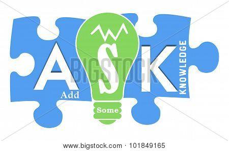 Ask Formula Colorful Shapes