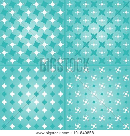 Four geometric abstract patterns set