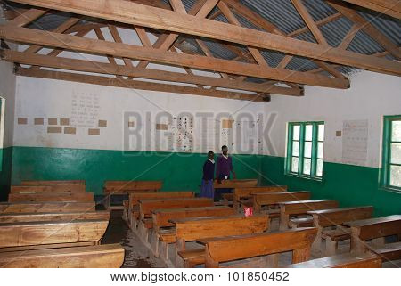 A Classroom Of Middle School Of Pomerini Village In Tanzania, Africa 52