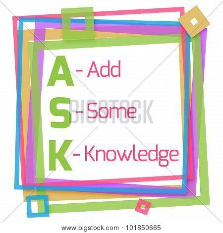 Ask Formula Colorful Frame